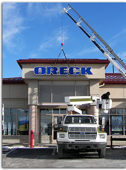 Oreck Illuminated Sign